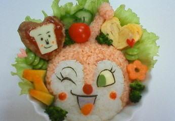 ドキンちゃん弁当 – 大好きなしょくぱんまんさまと一緒♪