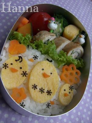 ひよこの親子のお弁当 – 簡単★薄焼き卵で可愛いヒヨコ♪