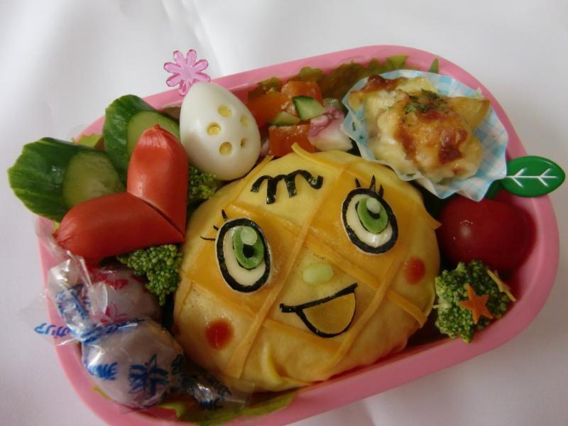 メロンパンナちゃん弁当 – オムライスでメロメロパンチ~★