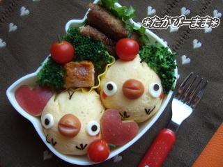 簡単♪ヒヨコのお弁当 – 薄焼きたまごを巻いたおにぎり★