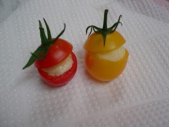 ミニトマトカップインチーズ – お弁当箱を彩るトマトも可愛く☆