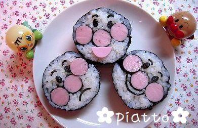 簡単アンパンマン巻き寿司 – のり巻きをいっぱい作って運動会弁当♪