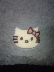 バレンタインやケーキにキティちゃんのデコチョコ