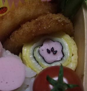 かわいい魚肉ソーセージのたまご巻き