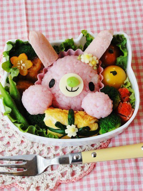 ピンクのウサギちゃんからプレゼント