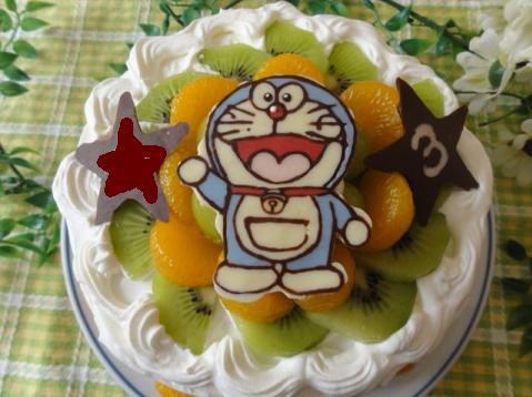 バースディケーキ☆ドラえもんチョコプレート