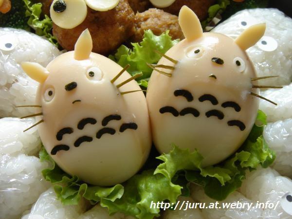 ゆで卵でとなりのトトロ