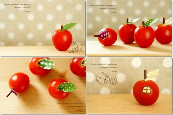 ミニトマトでりんごピックの作り方