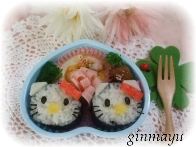 なんちゃって巻き寿司でキティちゃん