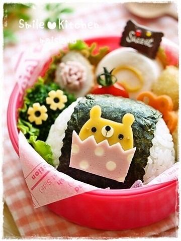 くまちゃんカップケーキ*ワンポイントおかず