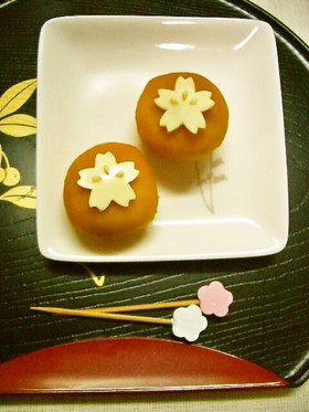 可愛いまんまるかぼちゃサクラ(桜)のデコ