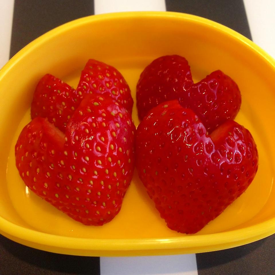 ハートないちご(苺)簡単にお弁当に可愛さプラス♪