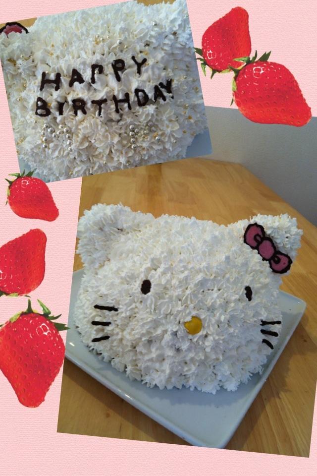 3Dハローキティケーキ