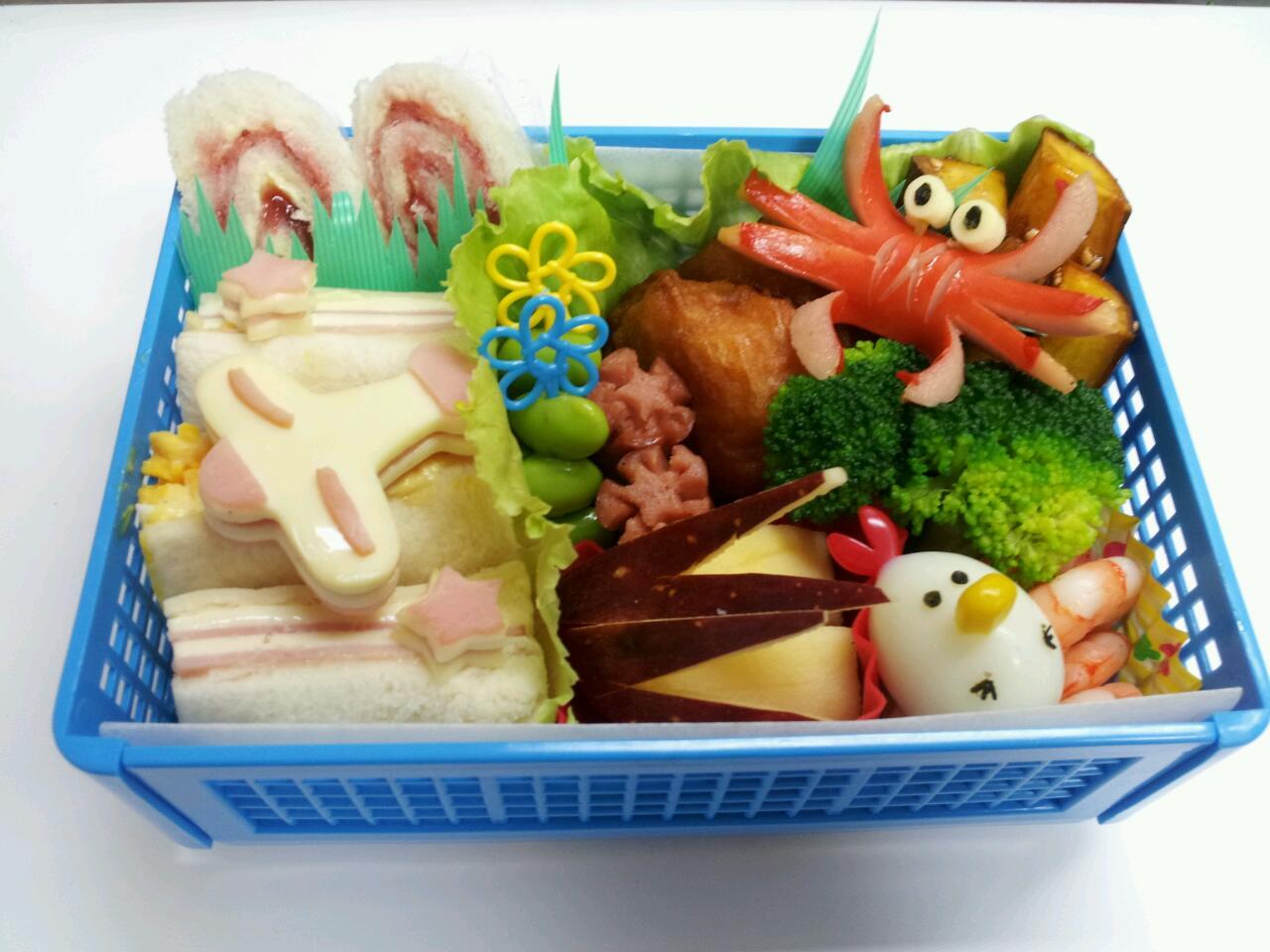 飛行機サンドイッチ弁当☆遠足☆