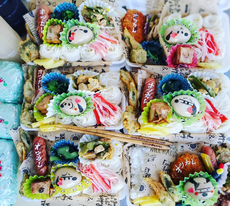 日焼けスヌーピー麺弁当☆&ご飯弁当&レディース弁当☆&ナルコーヒーさんで♪