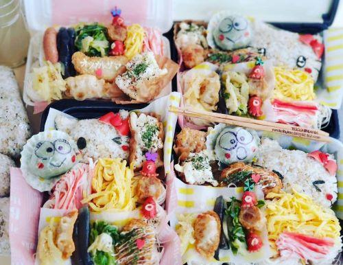 キティちゃん麺弁当☆ごはんと麺のお弁当デザートけろけろけろっぴ大福♪