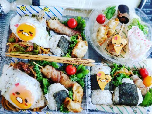 ぐでたま弁当☆焼うどん弁当&おにぎり弁当&そうめん弁当&北海道グルメ☆海鮮~^^♪