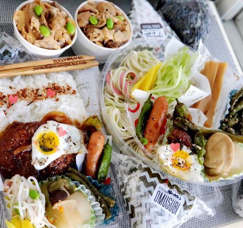 麺弁当&丼弁当&コンビニ風おにぎり♪&スヌーピー&チャーリーブラウン編♪