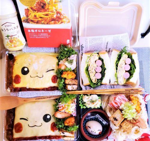 ピカチュウオムライス弁当&麺弁当♪