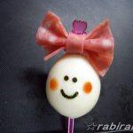 ウズラのリボンちゃん – 可愛いピックとハムでうずらの卵がかわいく☆