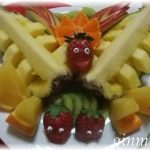 フルーツ盛り合わせとみかんの飾り切り