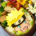 NARUTO(うずまきナルト)弁当 – 薄焼き卵とハムで平面キャラだってばよ~★